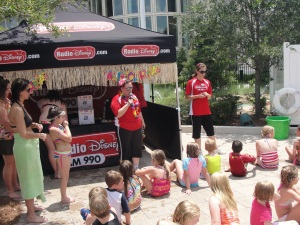 Radio Disney games at Hilton SummerBlast pool party Orlando
