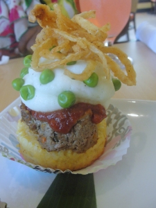 Savory Cupcake:  Meatloaf with Cream Potato Frosting