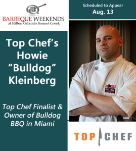 Barbecue chefs for Hilton Orlando Bonnet Creek barbeque weekends - Chef Howie Bulldog Kleinberg Top Chef