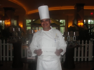 Chef Alberto Navarrete Arias of La Luce restaurant
